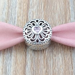 2aea1b83f38 Authentic 925 Sterling Silver Beads Amor Amizade Charme Serve Pulseiras  Colar de Jóias Pandora Estilo Europeu 791955PCZ