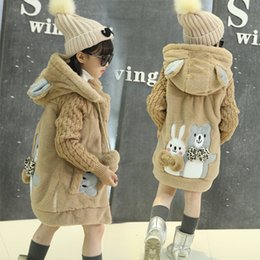 $enCountryForm.capitalKeyWord NZ - Children Sweaters Cartoon Outwear Coat 2017 Winter Girls Hooded Thick Jacket Kids Child Velvet Clothes 4 6 8 10 12 13