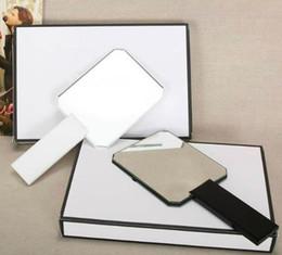 Опт 2018 горячий известный узор новый модный классический бренд акриловая ручка для макияжа зеркало высококачественное портативное зеркало для тщеславия с подарочной коробкой
