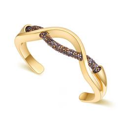 swarovski elements crystal bracelets women 2019 - 2018 New Fashion Mesh Bracelets Bangles For Women Luxury Wedding Party Jewelry Made with Swarovski Elements Crystal Bijo