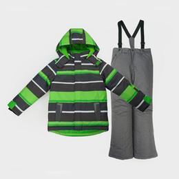 $enCountryForm.capitalKeyWord Australia - Honeyking Toddler Boy Children Kids Snowsuit Outdoor Ski Suit Set Winter Warm Snowboard Waterproof Windproof Hooded Jacket Pants