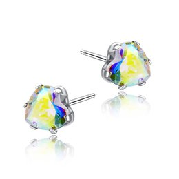 $enCountryForm.capitalKeyWord UK - Europe and America Hotsale Silver Plated 6MM AAA CZ Earrings Studs for Girls Women for Party Wedding Jewelry Nice Valentine's Day Gift