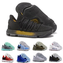 c079edd304b7 Men Basketball Shoes 10 Anniversary University Still Kd Igloo BETRUE Oreo  USA Kevin Durant Elite KD10 Sport Sneakers free shipping