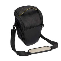 dslr cameras bags UK - Fashion Triangle Waterproof Camera Bag For Canon DSLR EOS 1300D 1200D 760D 750D 700D 600D 650D 550D 60D 70D