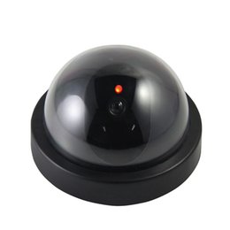 Discount dummy domes - LOFAM Dummy Fake Camera Indoor Fake Surveillance Camera Dome CCTV Security Flashing Red LED Light for Home and Office