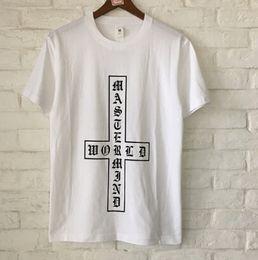e882ca63 Cross Skull Design Mens T-shirt Mastermind Print Women Streewear Tshirt Hip  Hop Summer Tees Top Lovers High Street Skeleton Tshirt