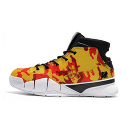 thomas shoes UK - Cheap 2018 New Mens Kobe 1 Protro basketball shoes x Undefeated Thomas Camo ASG Zoom Air KB Trainers ZK1 sneakers with original box for sale