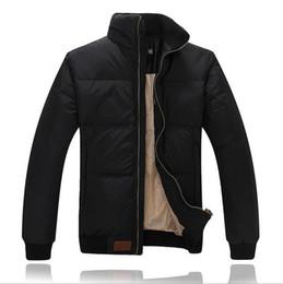 Chiffon Polo UK - 2018 Winter Men POLO Down jacket Casual Mens Down Coat Thick Parka Men Warm Outwear Down jacket Male Clothing P-1613