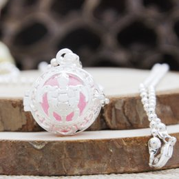 Pregnancy Chime Pendant Australia - Fine Jewelry Harmony Chime Bell Ball Cage Turtle Angel Locket Silver Plated Pregnancy Necklace Pendant HBS0089