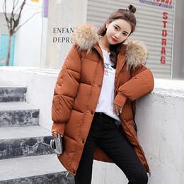 Veste femme 2018 nouvelle arrivée femme capuche manteau col de fourrure à glissière long manteau veste chaude hiver femme en Solde
