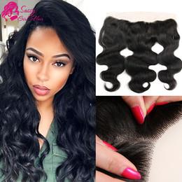 $enCountryForm.capitalKeyWord Australia - Brazilian Body Wave Frontal Closure Products Brazilian Virgin Hair Wavy Body Wave Frontal Closure Remy Hair Extensions SASSY GIRL Brands