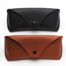 Wholesale Portable Unisex Faux Leather Eye Glasses Sunglasses Holder Box Case Cover