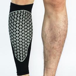 Leg Cycling Australia - 1Pc Compression Running Calf Leg Sleeve Football Shin Guard Cycling Leg Warmers Soccer Sport Legwarmers Basketball Knee Pads New