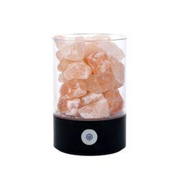 home purifier ionizer 2018 - Natural Rock Lamp USB Rechargeable Crystal Salt Light Air Purifier Home Decor Small Night Light Eye Care Ionizer cheap h