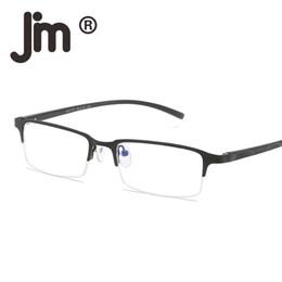 $enCountryForm.capitalKeyWord Canada - JM Computer Reading Glasses Anti Block Blue Light Spring Hinge Half Frame Metal Gaming Eyeglasses Reduce Digital Eye Strain