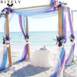 $enCountryForm.capitalKeyWord Canada - bow glitter 5M*1.35M Sheer Organza Swag Fabric wedding decoration,factory price with best service for custom ,the most beautiful free shippi