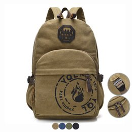 back pack boy UK - Men Canvas Backpack Vintage Style School Bag for Teenage Boy Girl 15.6 Laptop Bag Casual Travel Bag Back Pack Women Bagpack Cool