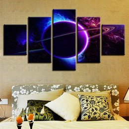 Panels Scenery Canvas Art Prints NZ - Wall Art Modular HD Printing Posters 5 Pieces Universe Planet Abstract Scenery Paintings Living Room Decor Frame Canvas Pictures