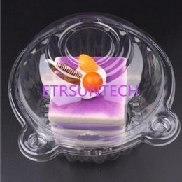 Wholesale Cake Boxes for Birthday Party Gift Box Clear Plastic Single Cupcake Cake Case Muffin Pod Dome Box Container QW7874
