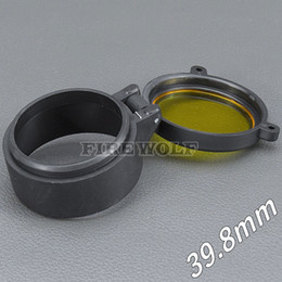 Flashlight glass lens online shopping - 39 mm Flashlight Cover Scope Cover Rifle Scope lens Cover Internal diameter mm Transparent yellow glass hunting