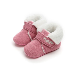 infant girl booties UK - Newest Winter Cotton Padded Boots Infant Toddler Super Warm Boys Girls First Walker Soft Sole No-slip Prewalkers Booty Booties