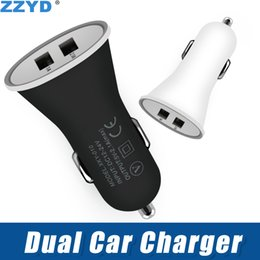 charger 1a Australia - ZZYD Dual Usb Car Charger Portable 2 Ports Adapter 1A For Samsung S8 Note 8 iP 7 8 X