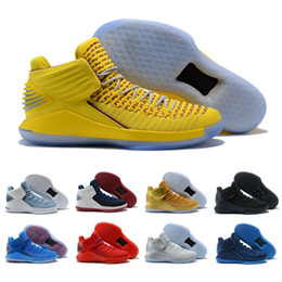 2f6727aa14cefe Wholesale 32 Hot Sale Basketball Shoes For Men Trainer Yellow Black White  Gery Best Quality Discount Sneakers Sport US 7-12