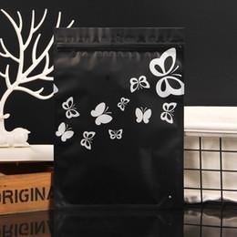 $enCountryForm.capitalKeyWord Australia - 100pcs Women's underwear packaging bags black zipper ziplock aluminum foil bag large plastic pocket hanging organizer