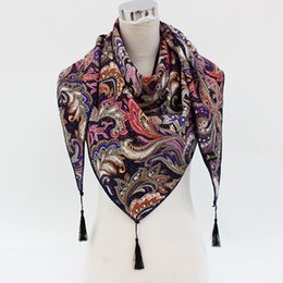 cotton scarves for sale NZ - HOT Sale Russian Brand New Fashion Big Size winter Triangular scarf of women cotton Shawl scarfs for ladies Print scaves 75*170
