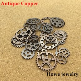 Discount gear cogs - Mixed 100g Antique copper steampunk gears and cogs clock hands jewelry fingings