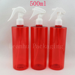 Red plastic containeR pump online shopping - 500ml X empty red trigger spray pump plastic bottles DIY cc cleaning pump sprayer trigger container bottles for water