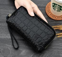 $enCountryForm.capitalKeyWord NZ - New Genuine leather women double zipper designer wallets female fashion casual cow leather zero purses lady popular phone clutchs 6colors