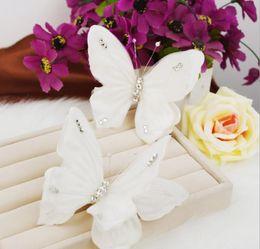 $enCountryForm.capitalKeyWord NZ - Bridal headwear, head flower wedding ornament, handmade butterfly hairpin, white wedding dress accessories