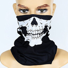 Bicycle Black Ghost Australia - Halloween Mask Festival Skull Masks Skeleton Outdoor Motorcycle Bicycle Multi function Neck Warmer Ghost Half Face Mask Scarves