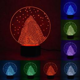$enCountryForm.capitalKeyWord Australia - Novelty Hot 3D Bulbing Snow Mountain LED Night Light RGB Gradient illusion Art Mood Lamp Visual Decor Christmas Birthday Festival Toys Gifts
