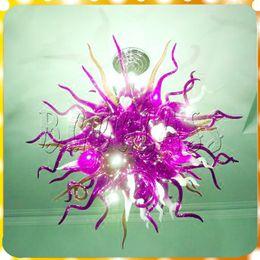 $enCountryForm.capitalKeyWord NZ - Purple Color Modern Chandelier Led Light for Home Decoration Living Room Glass Art Lighting Chihully 100% Hand Blown Glass Pendant