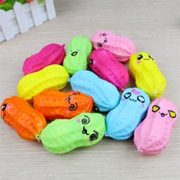 Discount peanut toys - New Emulation peanut PU Slow rebound Peanut model Squishy Multiple expressions Peanut toys Photographic props T4H0510