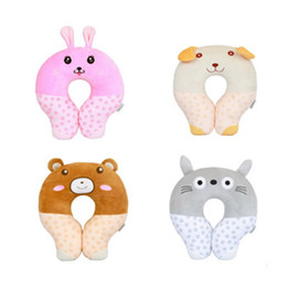 Cartoon Memory NZ - Baby Pillow Light Weight Comfortable Multi-Color Cartoon U Shaped Neck Travel Pillow Automatic Neck Support Head Rest Cushion