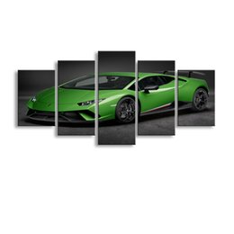 $enCountryForm.capitalKeyWord Australia - 5 pieces high-definition print Sports car canvas oil painting poster and wall art living room picture C5-049