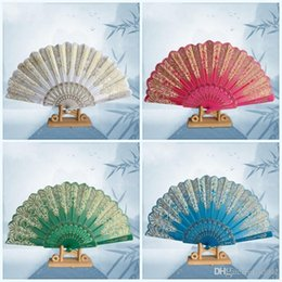 dfcee45529c9 Chinese paper Cutting art online shopping - Chinese Style Gold Powder Fan  Beautiful Peacock Lace Plastic