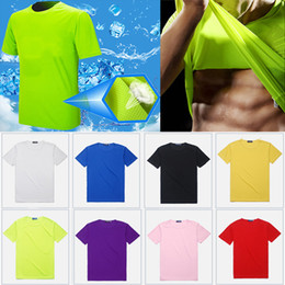 3bae8235b Round Neck Cooling T-shirt Sports Breathable solid color Men Women Short  Sleeved Quick Drying t-shirt home clothing custom logo WX9-852