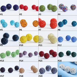 $enCountryForm.capitalKeyWord Australia - New Fashion Polymer Clay Ball Crystal Shamballa Bead Bracelet Necklace Beads Bracelet DIY Accessories Wholesale H0150