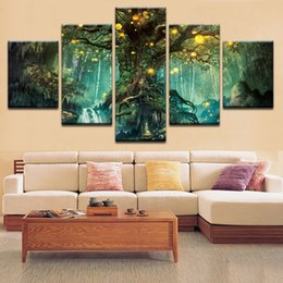 $enCountryForm.capitalKeyWord NZ - Home Decoration Modern Canvas HD Printed Abstract Tree Landscape Wall Art Painting For Living Room Framed Modular Picture