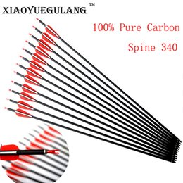 $enCountryForm.capitalKeyWord Canada - 30'' spine 340 OD 7.6 mm ID 6.2 mm Archery Carbon Arrows Hunting And Target Shooting for Compound Recurve Bow