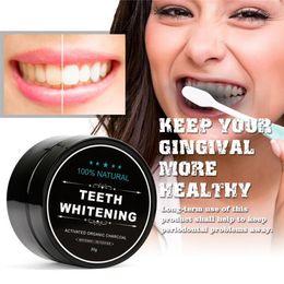 Diária Uso Natural Dentes Branqueamento Pó de Escalada Higiene Oral Embalagem de Limpeza Premium Ativado Carvão De Bambu Em Pó