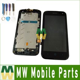 Zte Blade Digitizer Screen NZ - Black Color 1PC  Lot High quality For ZTE Blade Q Lux 4G 3G LCD Display+Touch Screen with frame without frame Assembly Digitizer
