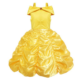 Discount beauty beast costumes - Girl's Dresses Halloween Bell Princess Dress Beauty and Beast Girl Princess Dress Foreign Trade Cosplay Costume