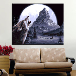 $enCountryForm.capitalKeyWord Canada - Full Moon Night Wolf DIY Digital Painting By Numbers Kits Acrylic Color Drawing Hand Paint Animals Oil Pictures Kids Unique Gift