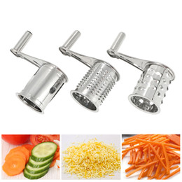 carrot cutter NZ - Garlic Triturator Food Carrots Slicer Chopper Shredder Stainless Steel Manual Rotary Multifunction Fruit Vegetable Cutter Grinder Crusher