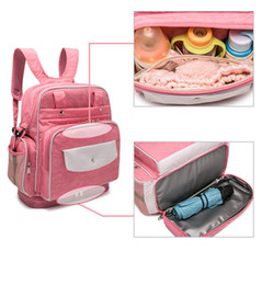 Fast Backpack Canada - Hottest Sale Mommy Backpacks Nappies Bags Mother Maternity Diaper Bottle Backpack Large Volume Outdoor Travel Bags 8 Colors Fast Shipping